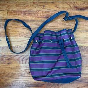 Tommy Hilfiger Drawstring Leather Bucket Bag